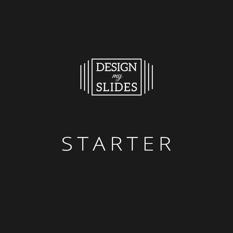 Design My Slides - Presentation Services Package - Starter